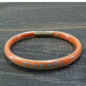 Chanel tube orange blue Chanel letter bracelet
